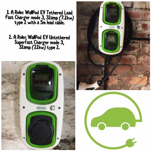 EV charging point for electric cars