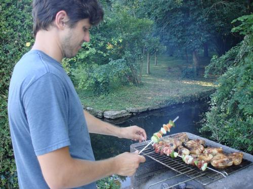 Enjoy a riverside barbecue