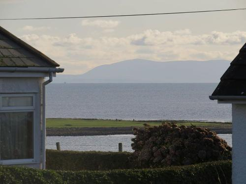 View from our door (Isle of Man in the distance)